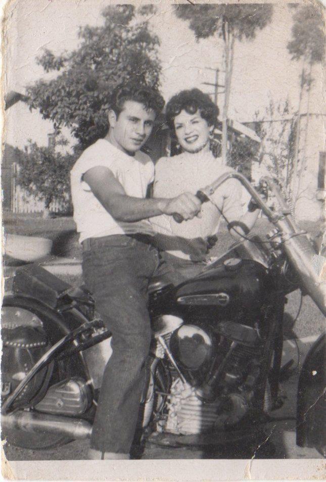 East LA biker couple, 1950 | Vintage L A | Pinterest | Bikers, Couples and Chicano