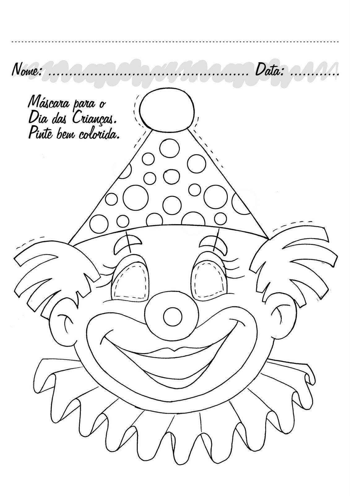 Actividades de carnaval, dibujos colorear, carnaval colorear ...