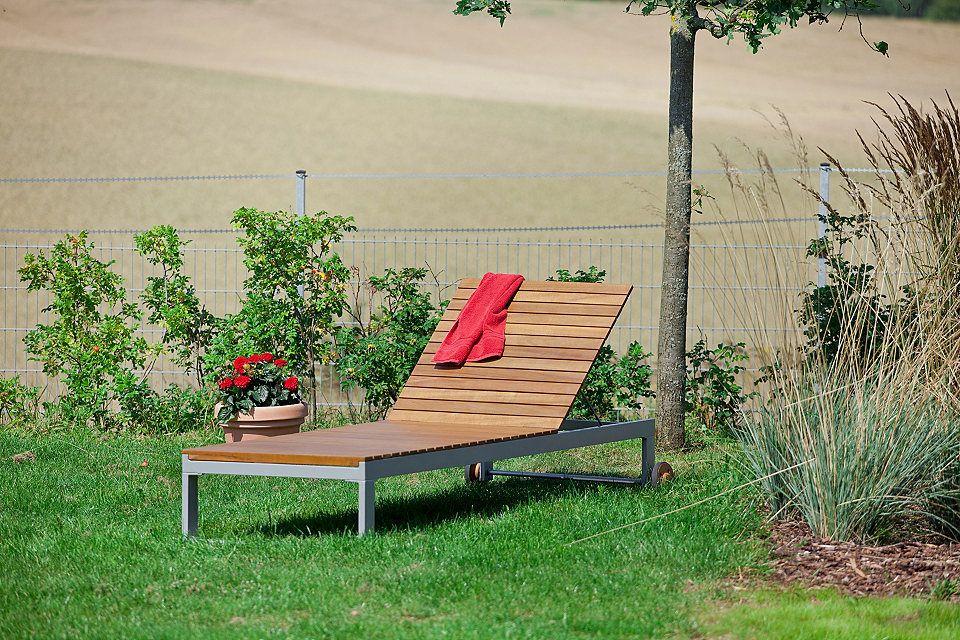 Merxx Gartenliege Naxos Eukalyptus Textil Verstellbar Grau Jetzt Bestellen Unter Https Moebel Ladendirekt De Gart Gartenliege Alu Gartenliege Im Freien