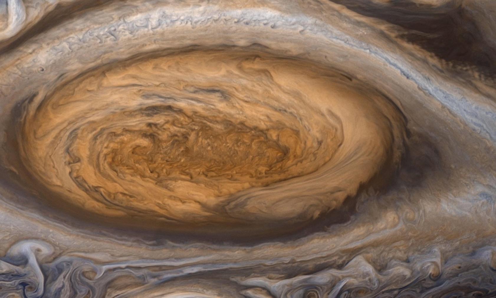 Astronomers spot mysterious 'blades' on Jupiter's Great ... |Solar System Jupiter Red Spot