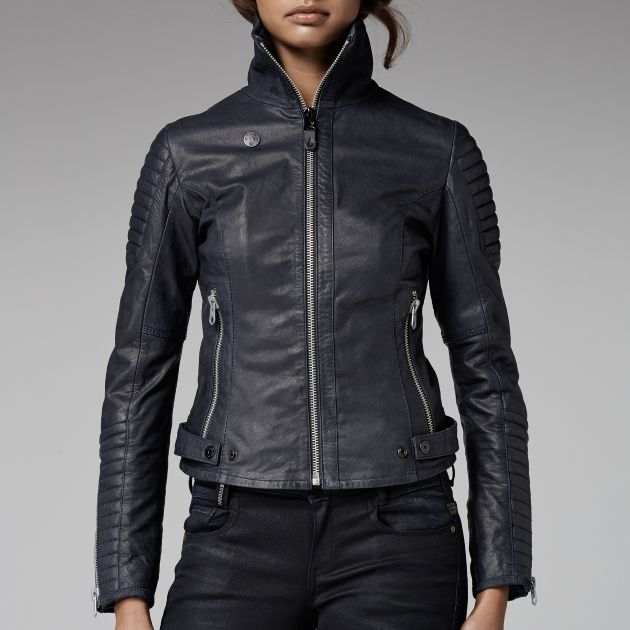 G Star RAW Biker Leather Jacket Women Jackets