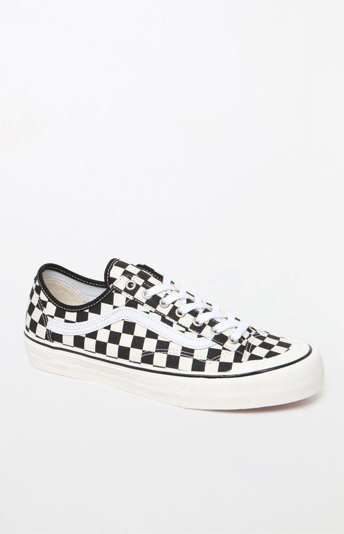 e1de6237ca Vans Style 36 Decon Sf Checkerboard Shoes - Black White Mens 11 ...