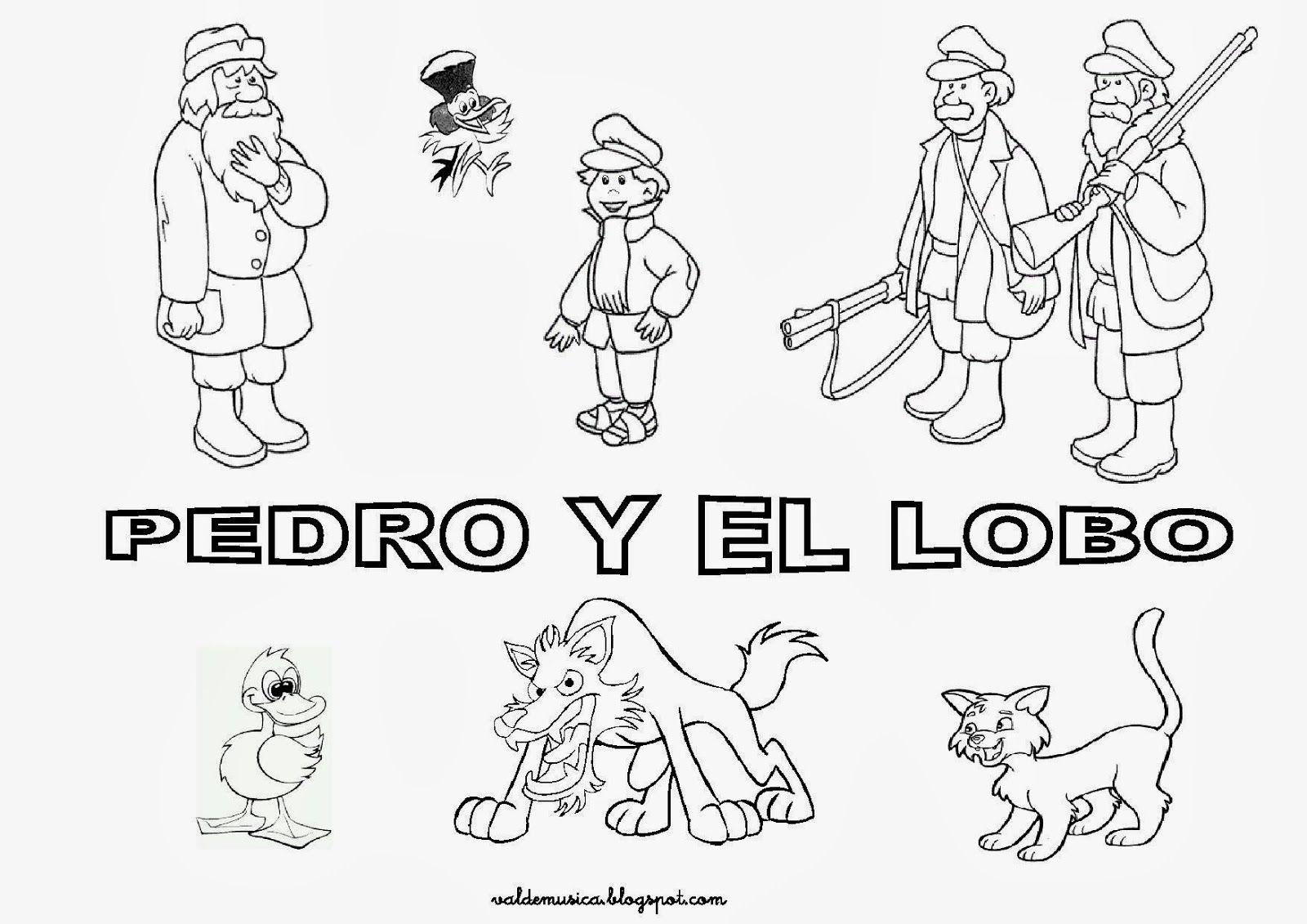 Increíble Peter Y El Lobo Para Colorear Cresta - Dibujos Para ...