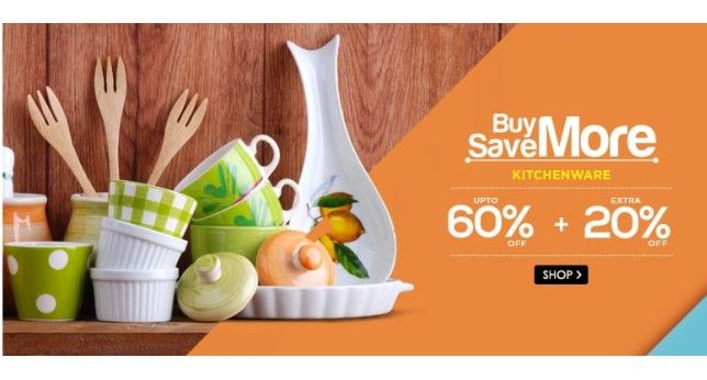Snapdeal Offers Discount Up to 60% + Extra 20% OFF on Kitchen ...