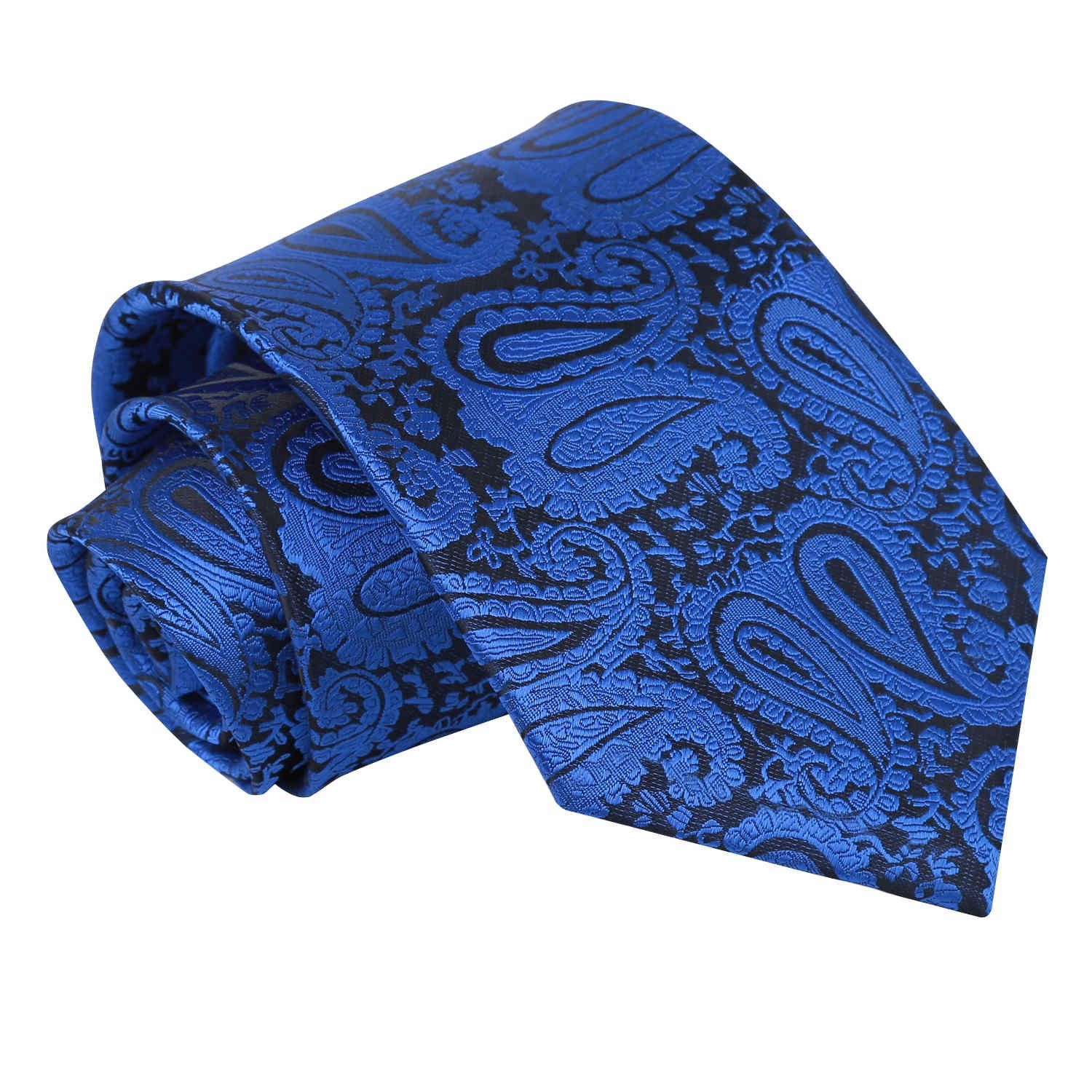 DQT Woven Floral Paisley Silver Formal Wedding Mens Skinny Tie