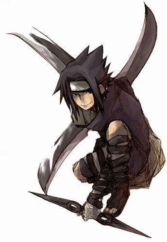 Sasuke Uchiha (うちはサスケ, Uchiha Sasuke) is one of the main characters and the deuteragonist of the Naruto series. He was a genin-level shinobi of Konohagakure's Team 7, but later defected from the village becoming a missing-nin, an affiliate of Akatsuki and is now considered an international criminal. He is also one of the two remaining living Uchiha.