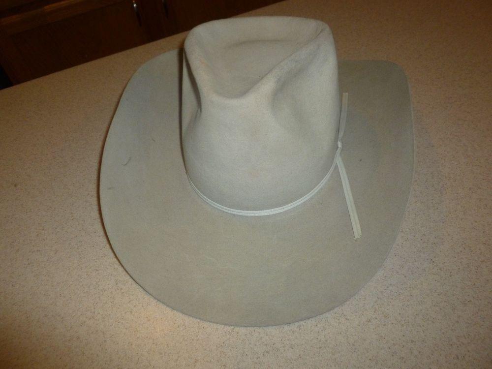 8713673231f61 Resistol Hat Beaver 5X Beige Fur Felt Self Conforming Western sz 7  Resistol   CowboyHat