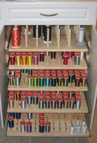 This Is A Dream Thread Cabinet Sewing Room Design
