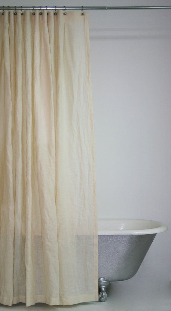 Extra Long Hemp Shower Curtain By Emilyellingwood On Etsy 16500