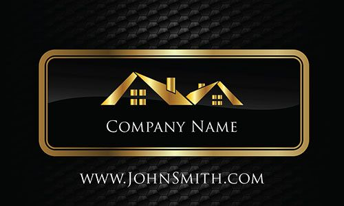 Professional elegant modern black gold metal business card template professional elegant modern black gold metal business card template for real estate agents flashek