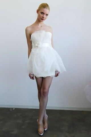 59ec9942 short and sweet Marchesa wedding dress   Will you do me the honor..