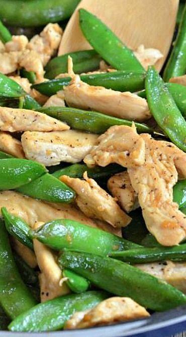 10 Minute Lemon Chicken Stir-Fry - Leckeres -