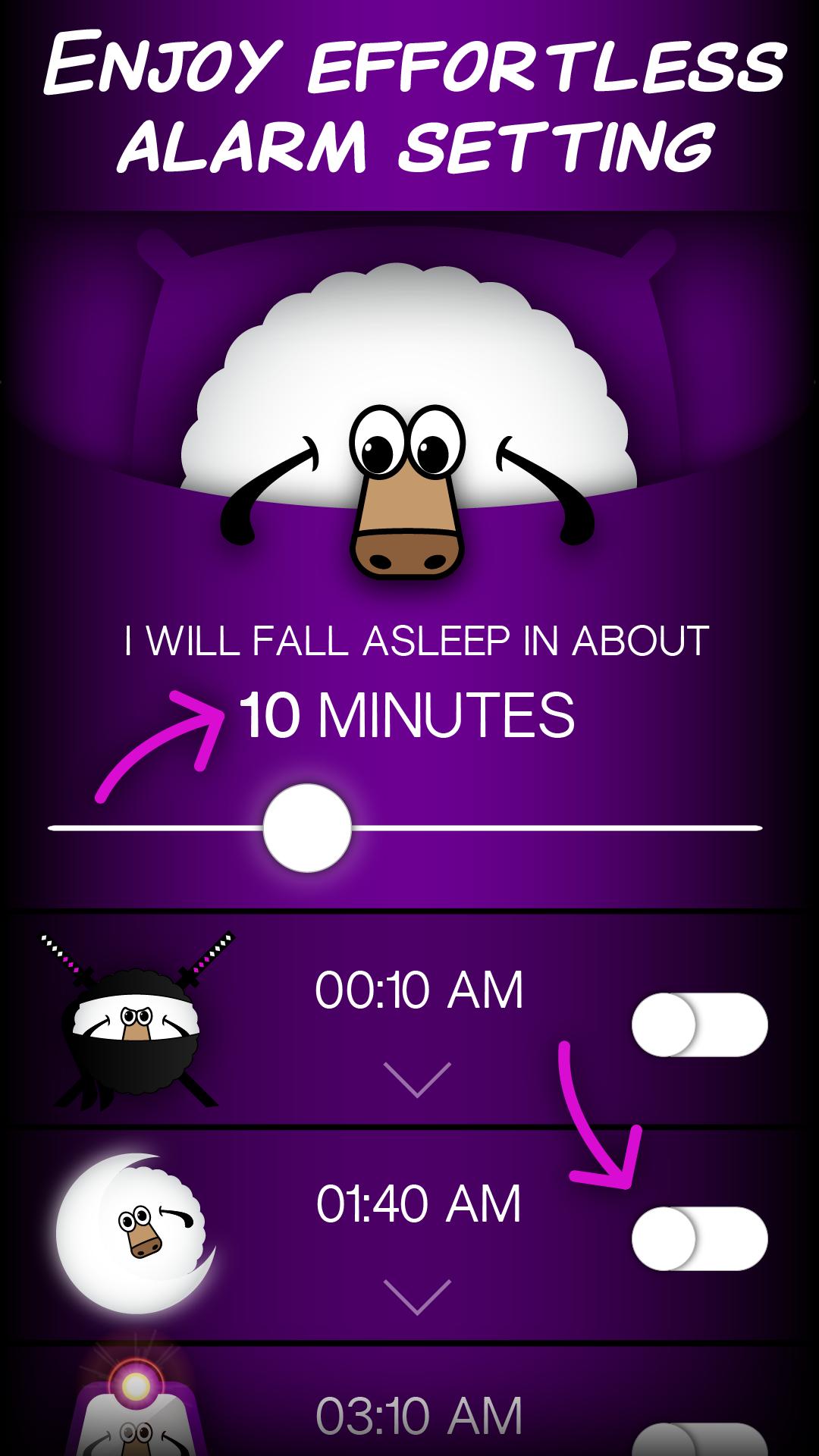 Sleep With Sheep in 90 Minute Cycles - Best Sleep Cycle Alarm Clock for iPhone (www.sleepwithsheep.com)