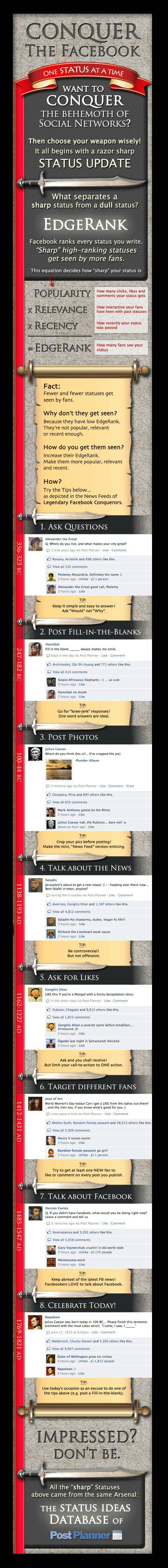 8 tips for improving your Facebook EdgeRank #social media #Facebook #Facebook EdgeRank