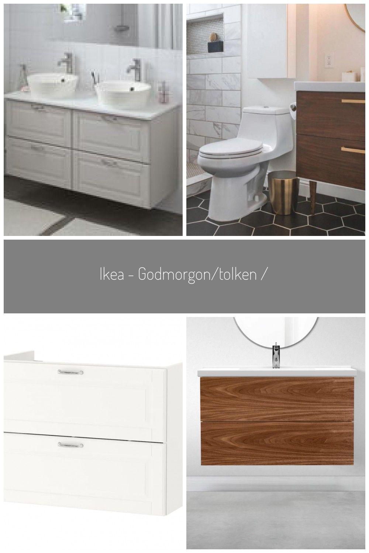 Ikea Godmorgon Tolken Kattevik Bathroom Vanity Kasjon Dark Gray Bathroom Dark Diybathroomdecoryello In 2020 Ikea Godmorgon Dark Gray Bathroom Furniture Hacks