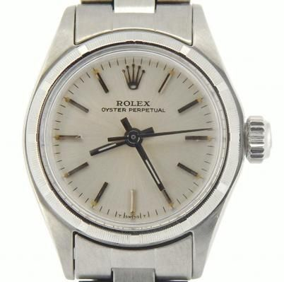Add some designer charm to your arm with this certified pre-owned Rolex watch.