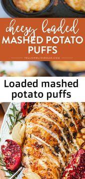 Photo of Loaded mashed potato puffs-Loaded mashed potato puffs  Loade…
