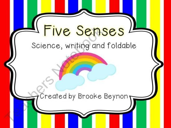 Five Senses - Science, Writing and Foldable product from Brooke-Beynon on TeachersNotebook.com