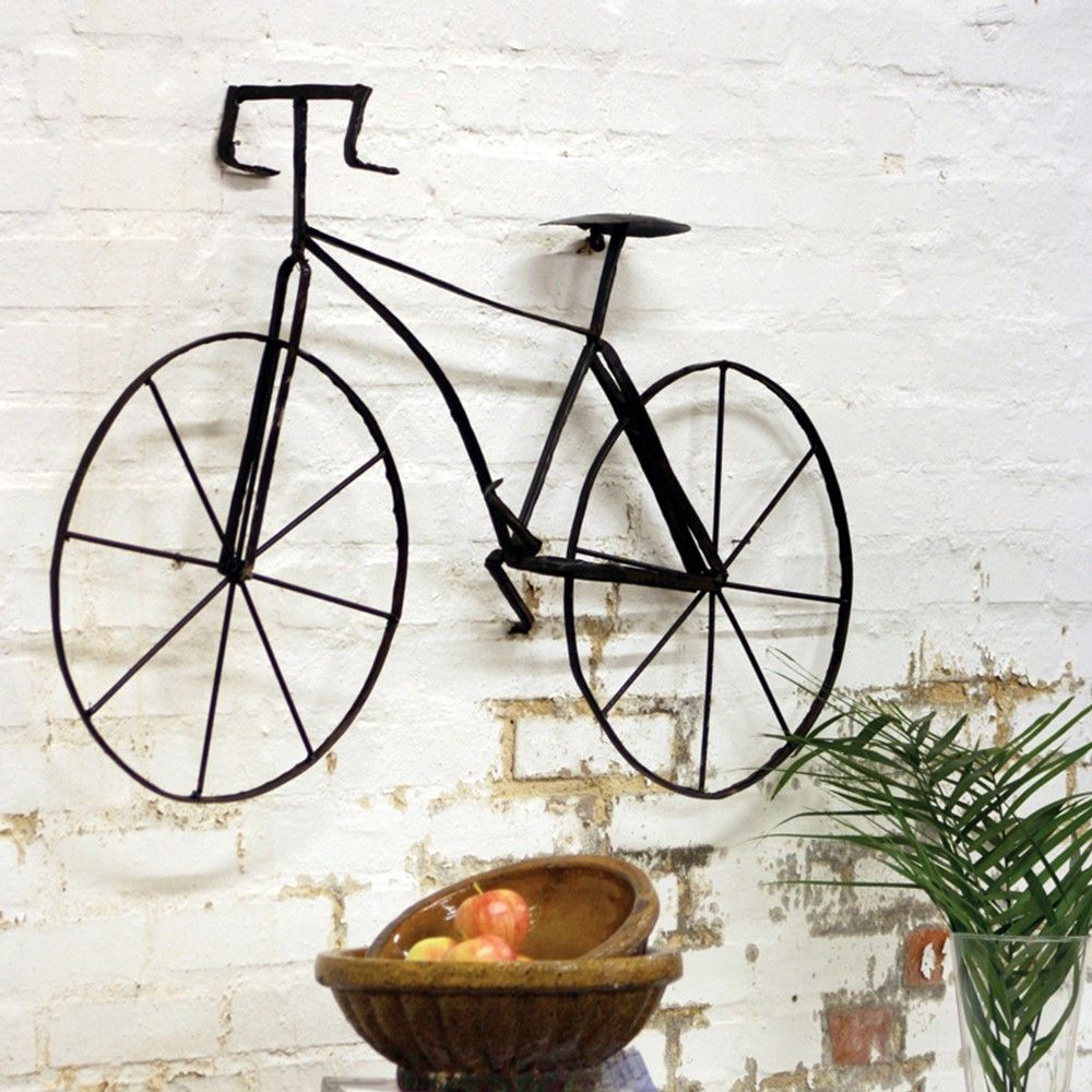 Furniture And Decor For The Modern Lifestyle With Images Bicycle Wall Art Scrap Metal Art Wall Sculpture Art