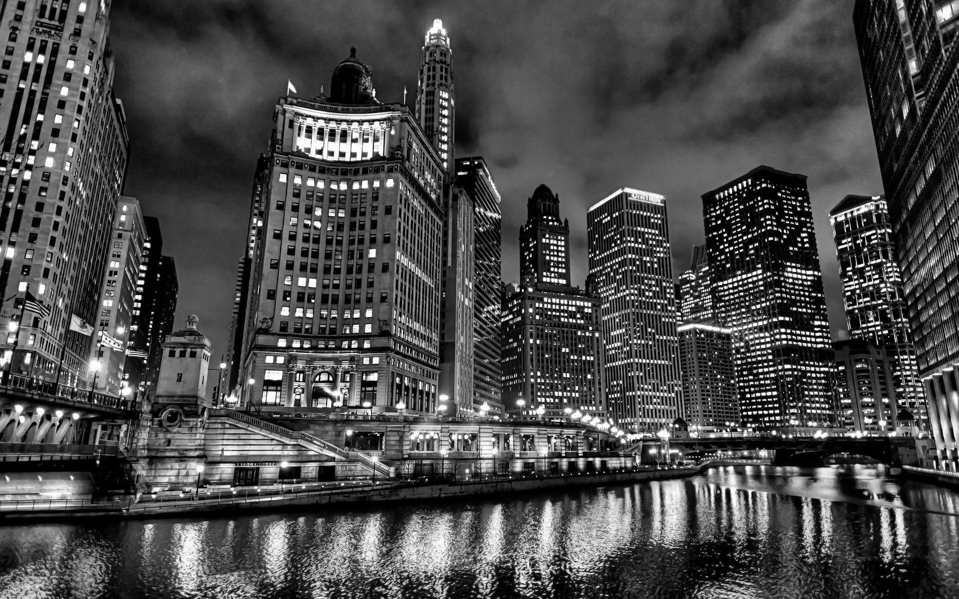 Chicago Black And White Image Chicago Skyline