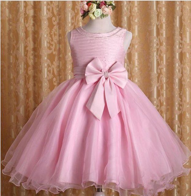 69f5555f7 2 a 7 Años de los Bebés Ropa Vestido Tutú Rosa de Navidad Princesa ...