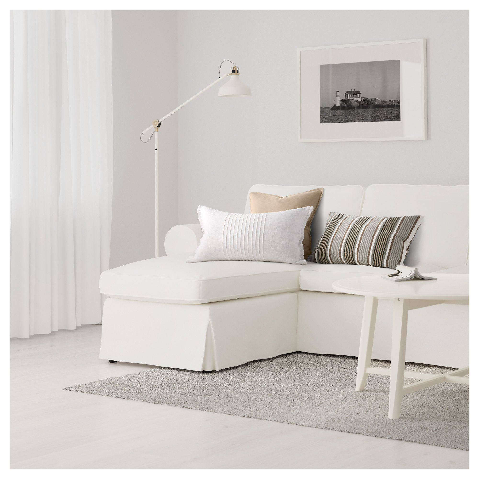 IKEA EKTORP Sofa Vittaryd with chaise, white in 2019