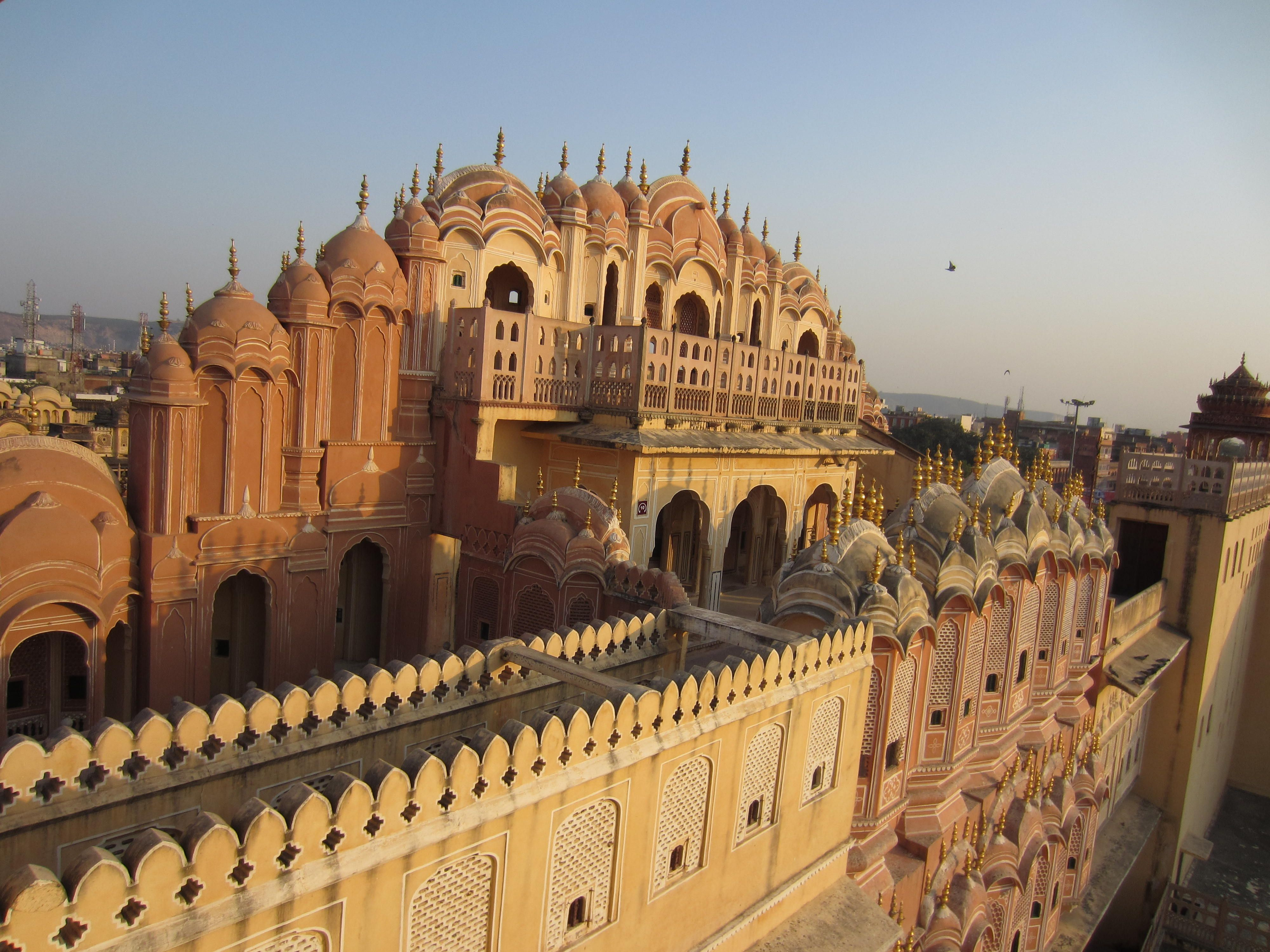 Hawa Mahal (The Palace of the Breeze), located in the