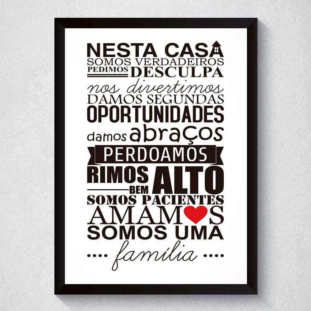 Quadro Decorativo Frase Fam Lia Quadros Decorativos Pinterest  ~ Frases De Limpeza Na Cozinha