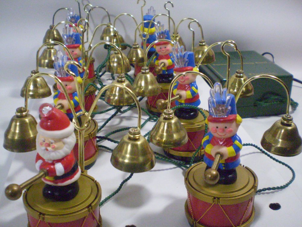 1991 Mr Christmas SANTA'S MARCHING BAND Toy Soldiers 16 Brass ...