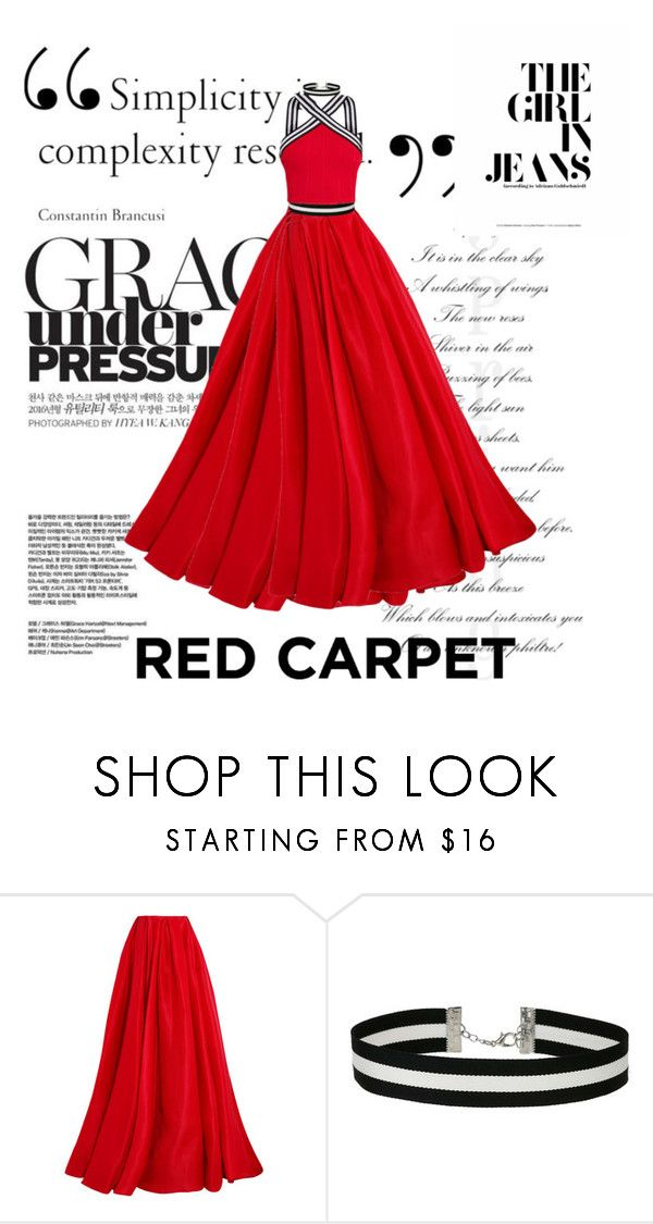 """""""OscarsinRed"""" by fantasy2athena ❤ liked on Polyvore featuring Reem Acra and Miss Selfridge"""