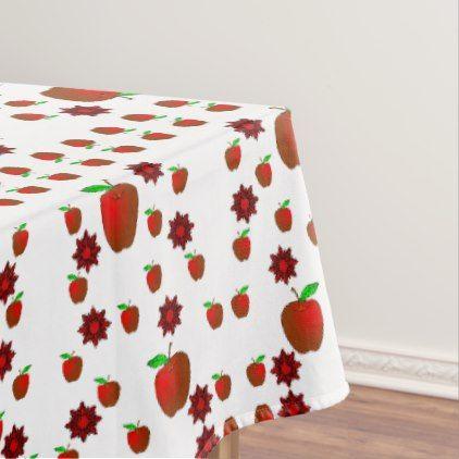 Tablecloth Apples - Xmas ChristmasEve Christmas Eve Christmas merry xmas family kids gifts holidays Santa