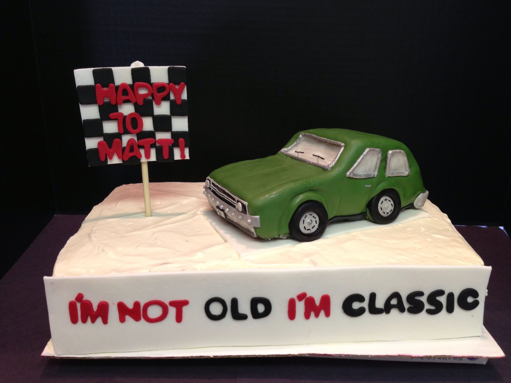 Classic Car Cake 65th Birthday Party Ideas Classic Cars
