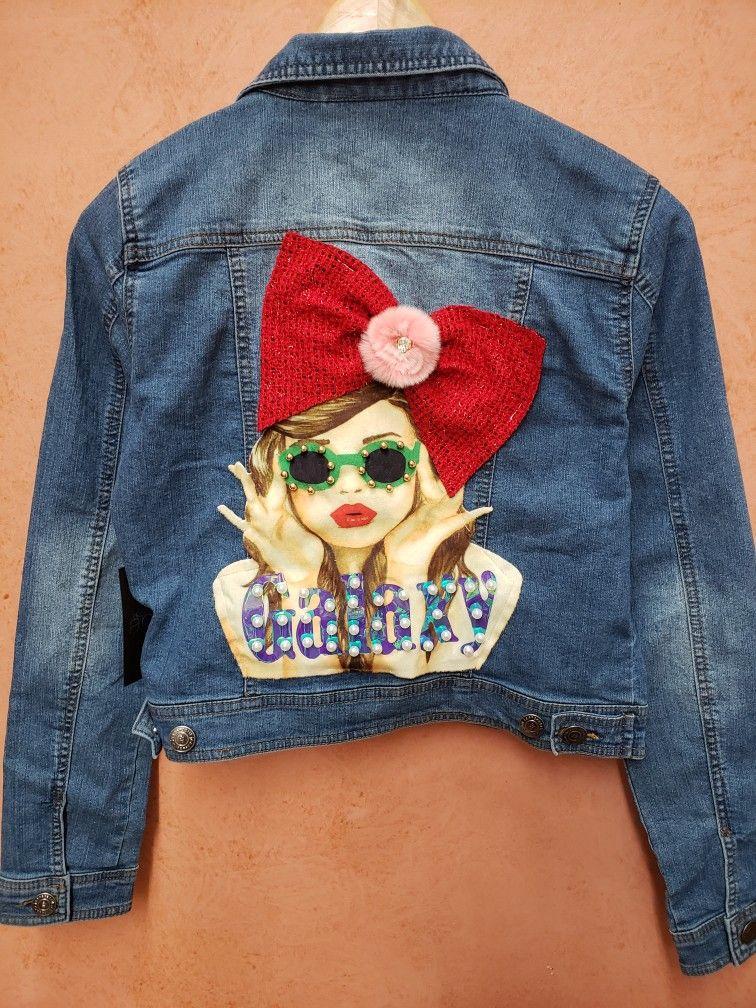 Denim with a patch diy fashion trends handmade fashion