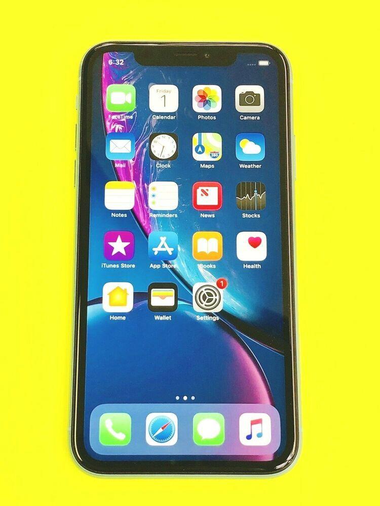 Apple iPhone Ten XR 64GB Blue ATT Cricket A1984 Iphone