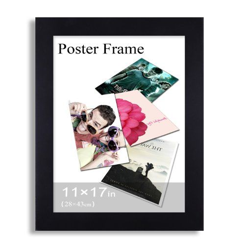 Adeco Pf0379 Black Wood 125 Inch Wide Margin Poster Picture Photo Frame 11 X 17 Inches You Can Get Mor Hanging Picture Frames Poster Frame Hanging Pictures