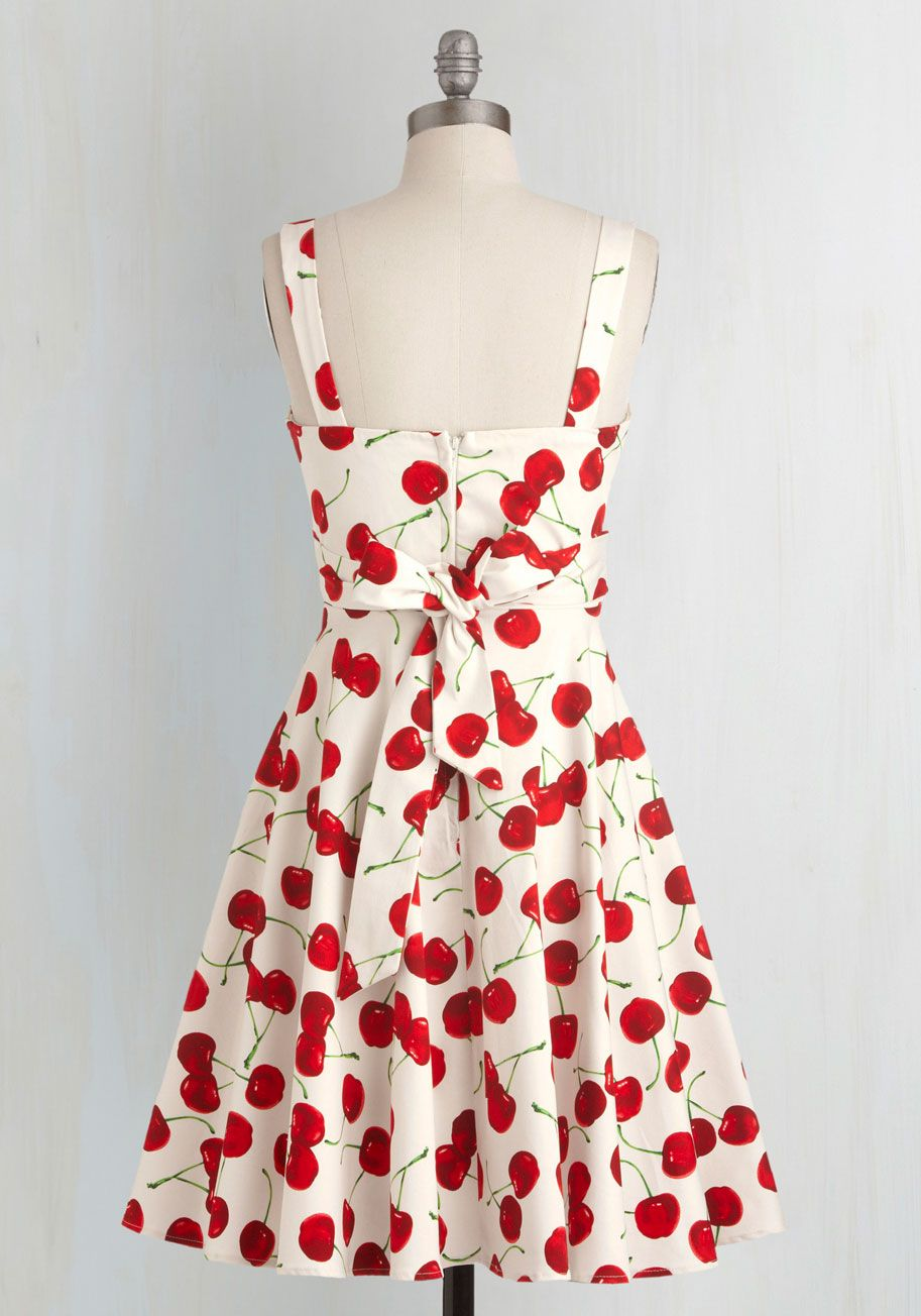 Pull Up A Cherry Dress In White Mod Retro Vintage Dresses Modcloth Com Cherry Print Dress Dresses Cherry Dress [ 1304 x 913 Pixel ]