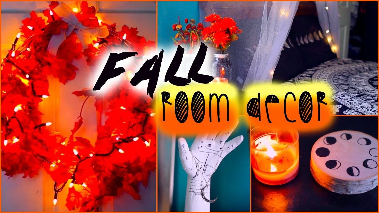 DIY fall room decor: Tumblr inspired images