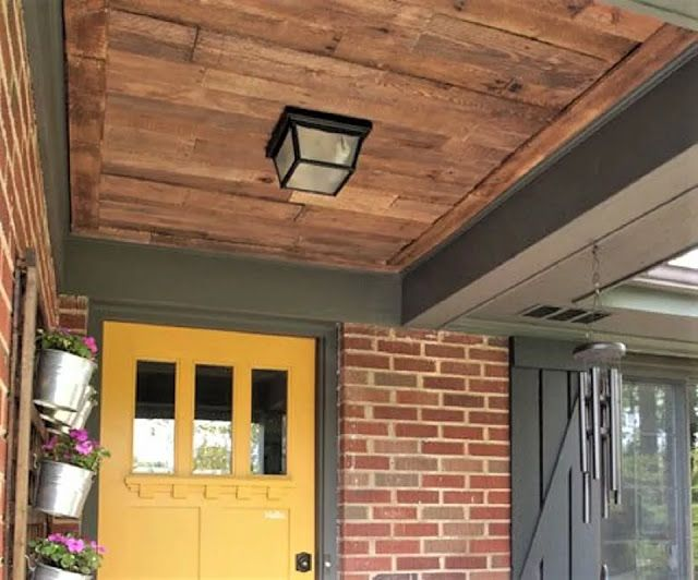 Wood Pallet Entryway Ceiling   Pallet patio furniture diy ...