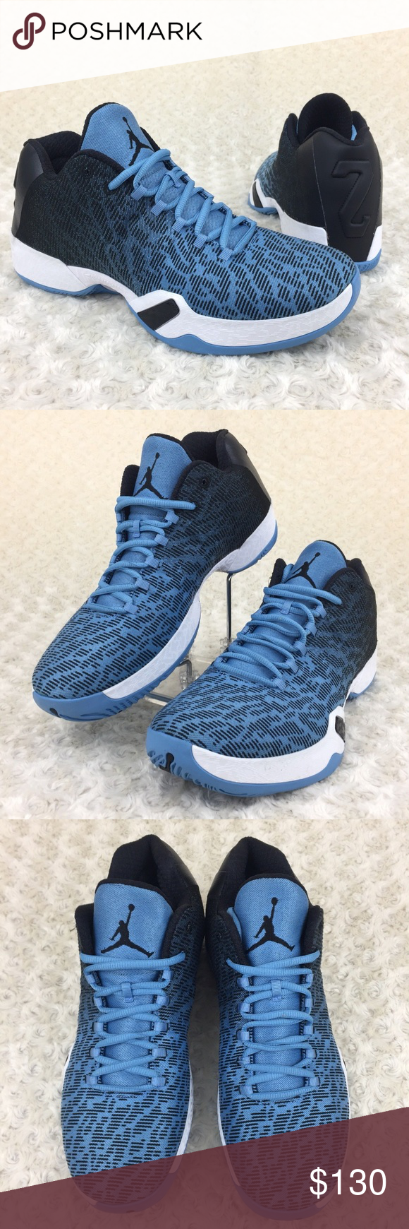on sale 385e2 4624c Nike Air Jordan XX9 Low Basketball Shoes Nike Air Jordan XX9 29 Low UNC Men  Size 10.5 Basketball Shoes Style  828051-401 Color  University Blue  Black   ...