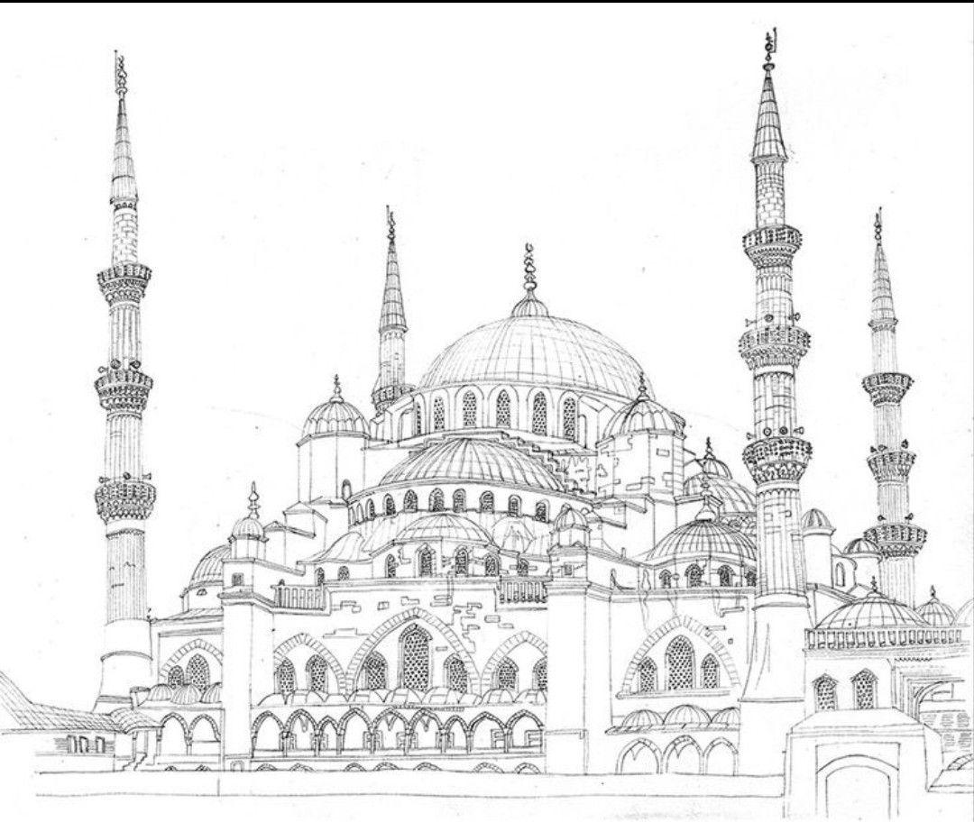 Стамбул картинки карандашом