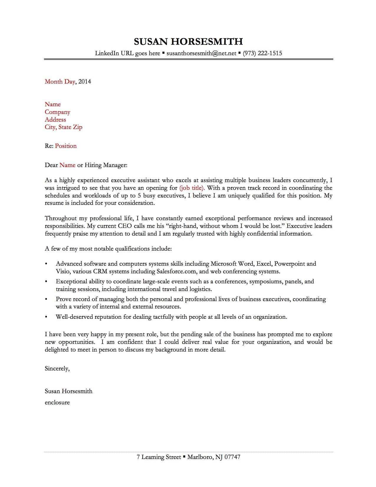 25 Sample Cover Letter For Administrative Assistant In 2020
