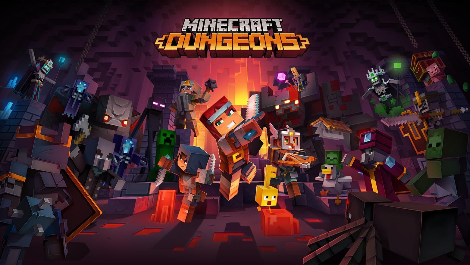 Free Minecraft Dungeons Magnet Link Full Pc Game Installer Codex Skidrow 3dm Cpy Reloaded Minecraft Games Minecraft Dungeon