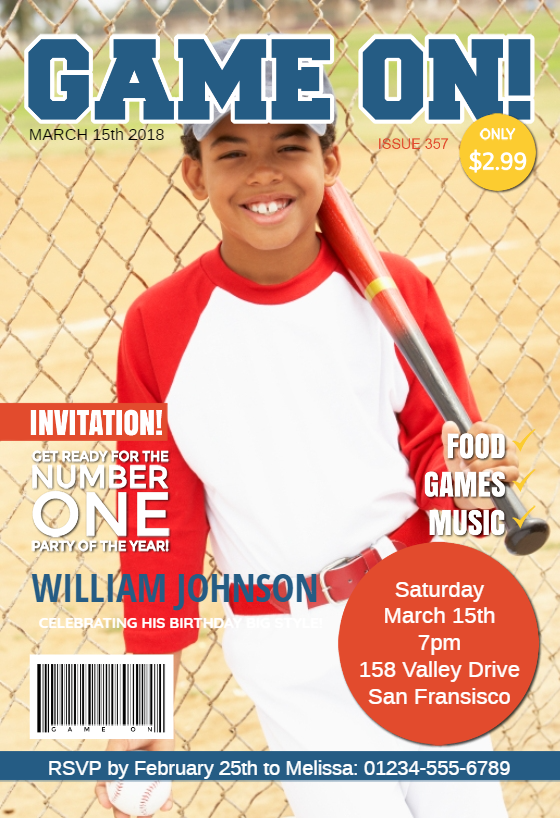 game on magazine cover