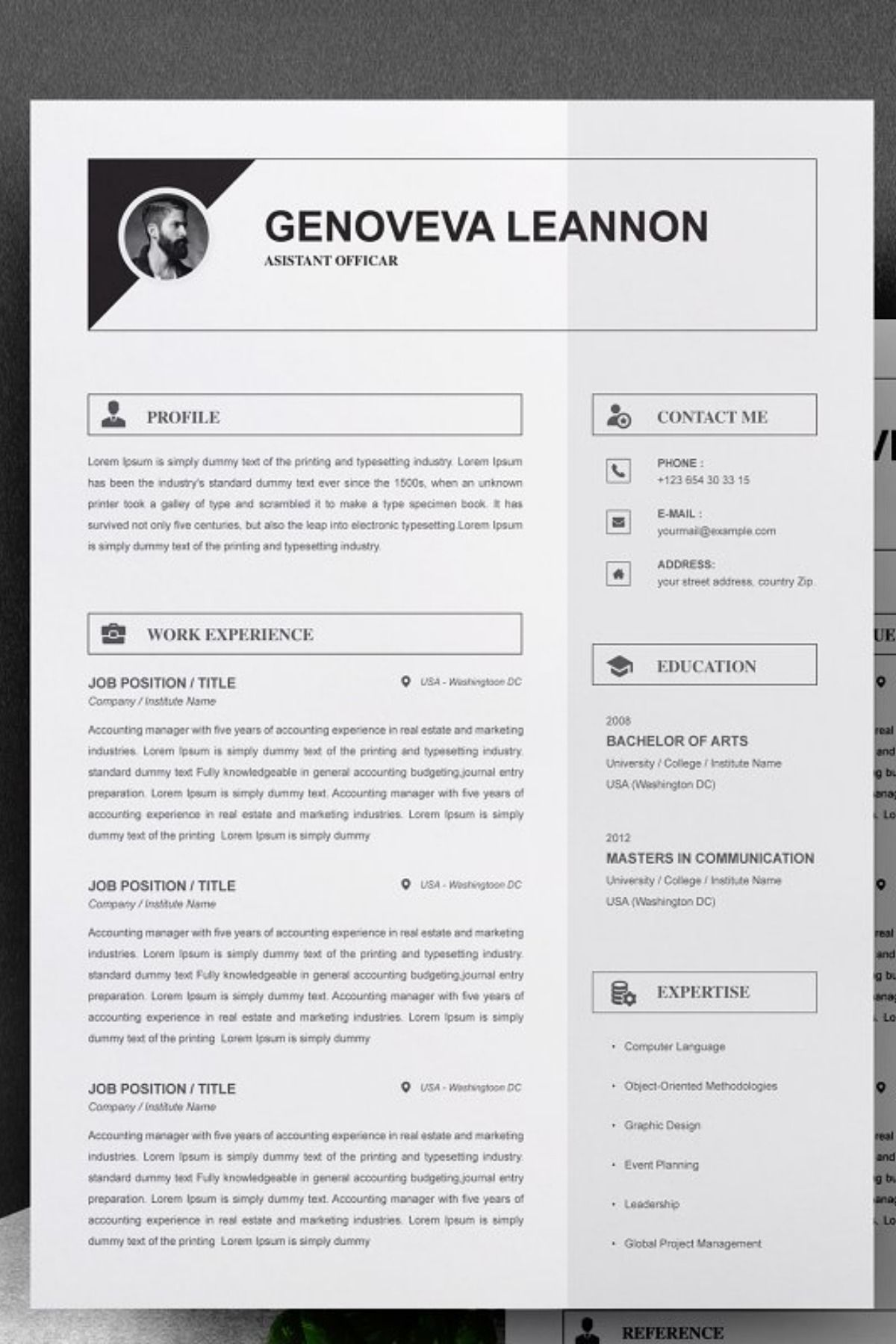 Resume Cover Letter Template Word