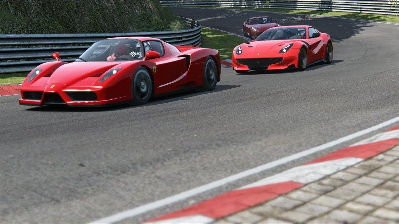 Ferrari F12 Tdf Vs Ferrai 812 Superfast Vs Ferrari Enzo At Nordschleife Ferrari F12 Tdf Ferrari F12 Ferrari Enzo