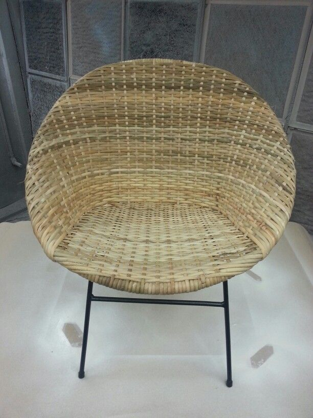 Newly Restored Rattan Saucer Chair   Slab Rattan On Rattan Frame Reinforced  With Fiberglass Wrap And
