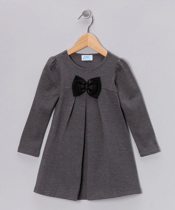 ce39cb614 Gray Bow Dress - Infant, Toddler & Girls | Products | Pinterest ...