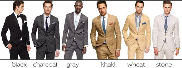 suit colors for mens wedding day attire