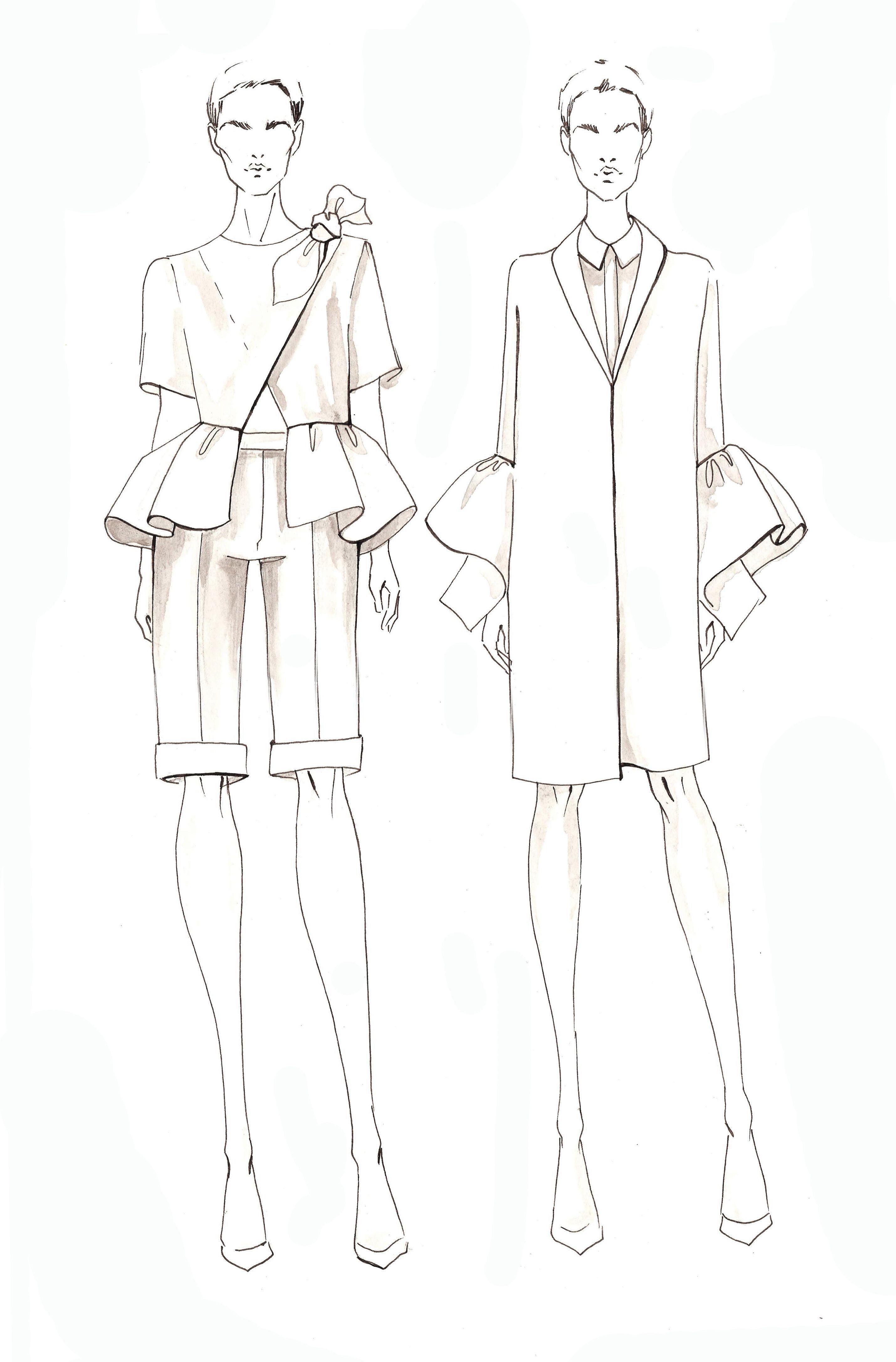 Modul 5 Skladki Fashion Design Sketches Illustration Fashion Design Fashion Illustration Dresses
