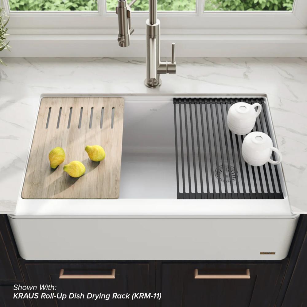 Kraus Kgf1 33 In 2020 Farmhouse Sink Kitchen Composite Kitchen Sinks Kitchen Sink Design